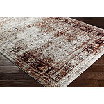 Uku Brown Damask Area Rug