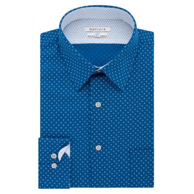 Van Heusen Air Long Sleeve Broadcloth Geometric Dress Shirt