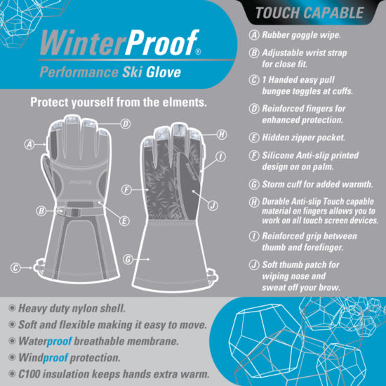 WinterProof Performance Ski Gloves
