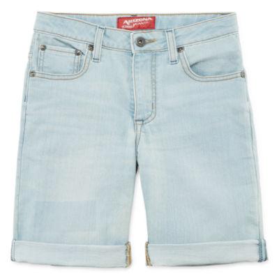Arizona Denim Stretch Fabric Shorts Boys 4-20, Slim & Husky