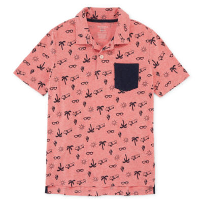 Arizona Short Sleeve Printed Polo Shirt Boys 4-20