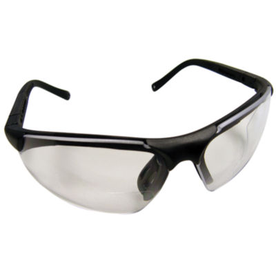 SAS Safety Corporation 541-2000 2.0X Reader Lens Safety Glass With Black Frames