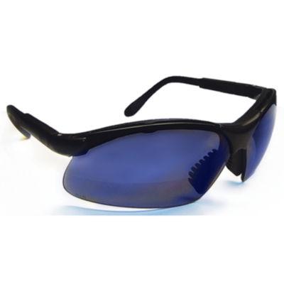 SAS Safety Corporation 541-0015 Blue Polycarbonate Clamshell Sidewinder Safety Eyewear