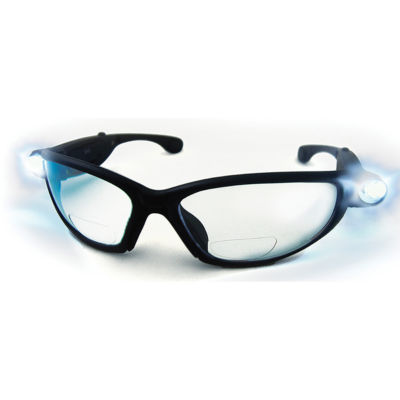 SAS Safety Corporation 5420-15 1.5X Inspectors Readers Safety Glasses With Black Frame