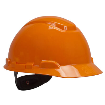 3M H-706R Orange 4 Point Ratchet Suspension Hard Hat