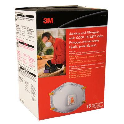 3M 8511HB1-C Sanding & Fiberglass Respirators WithCool Flow» Valve 10Ct