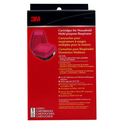 3M 60921HB1-A Replacement Cartridge For HouseholdMultipurpose Respirator