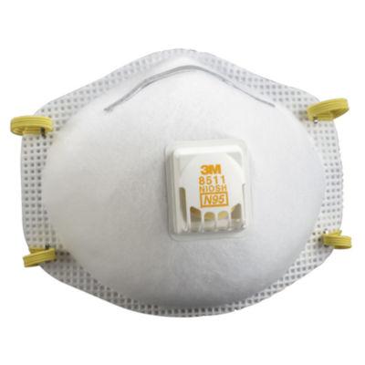 3M 8511PB1-A Sanding & Fiberglass Respirator WithCool Flow» Valve  10 Ct