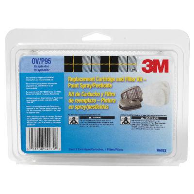 3M 6022PA1-A Organic Vapor Cartridge & Filter
