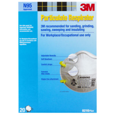 3M 8210PB1-A N95 Particulate Respirator 20 Count