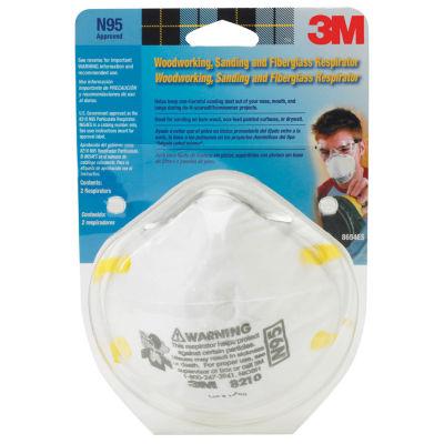 3M 8210PA1-A Sanding & Fiberglass Insulation Respirator