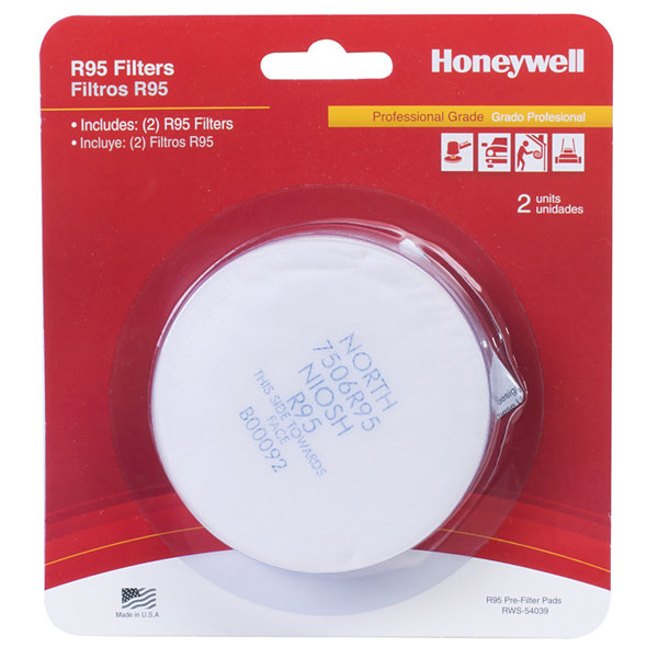 Honeywell RWS-54039 Pre-Filter R/N95 Pads 2 Count