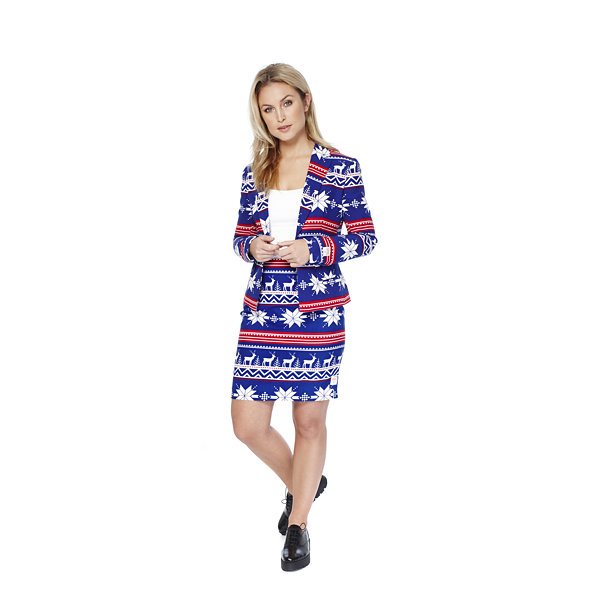 OppoSuits Womens Christmas Suit Miss Rudolph