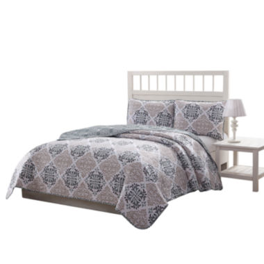 Quaint Home Palazzo Reversible Microfiber 3-pc. Quilt Set