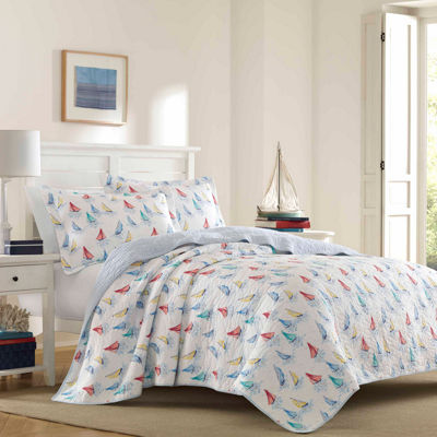 Laura Ashley Ahoy Bright Blue Quilt Set