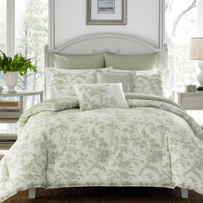 Laura Ashley Natalie Green Comforter Set