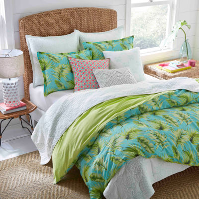 Nine Palms Palm Cove Aqua Comforter Set