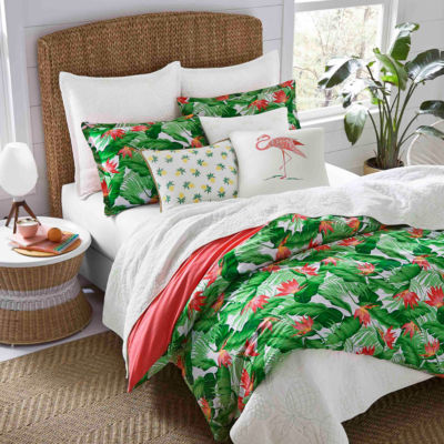 Nine Palms Del Carmen Bright Green Comforter Set