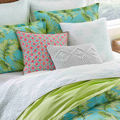 Nine Palms Palm Cove Aqua Duvet Cover Set