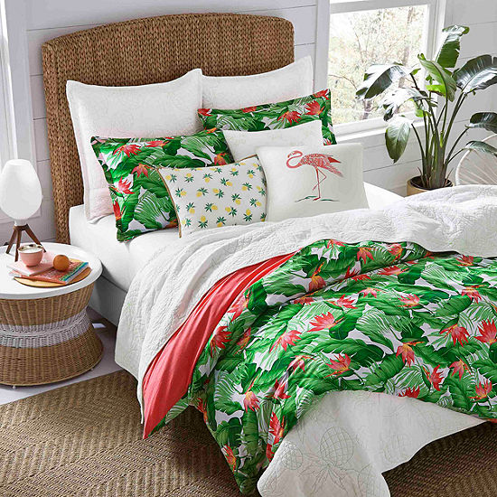 Nine Palms Del Carmen Bright Green Duvet Cover Set