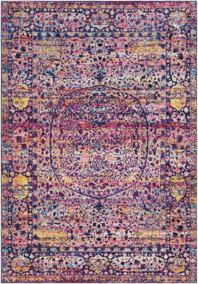 Ackner Pink Medallion Rug