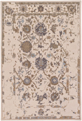 Amoret Neutral-Brown Damask Rug