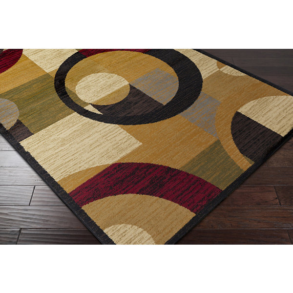 Anatoli Orange-Red Geometric Rug
