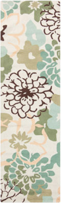 Angelonia Neutral-Yellow Floral Rug