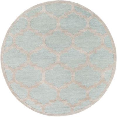 Aniya Blue Round Rug
