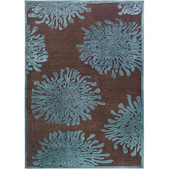 Anthyllis Green-Brown Floral Rug