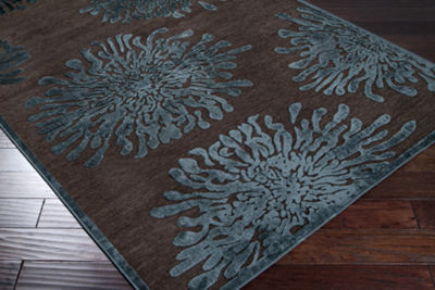 Anthyllis Green-Brown Floral Rug