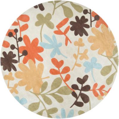 Atriplex Floral Round Rug