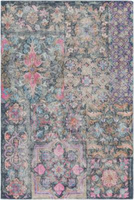 Baptista Pink Floral Rug