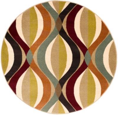 Barron Green Geometric Round Rug