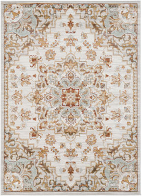 Baudouin Gray Medallion Rug