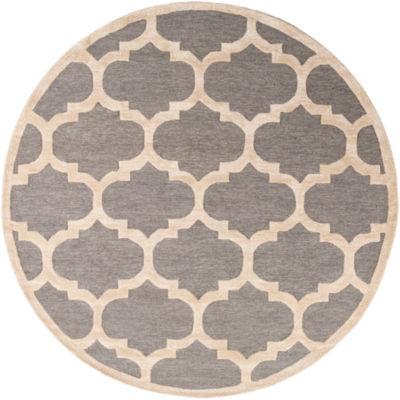 Belen Gray Round Area Rug