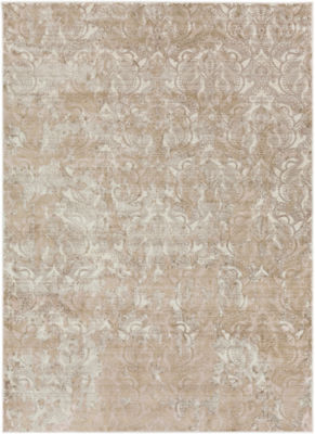 Birgir Neutral Damask Rug