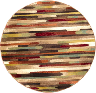 Bowers Multi-Colored Round Rug