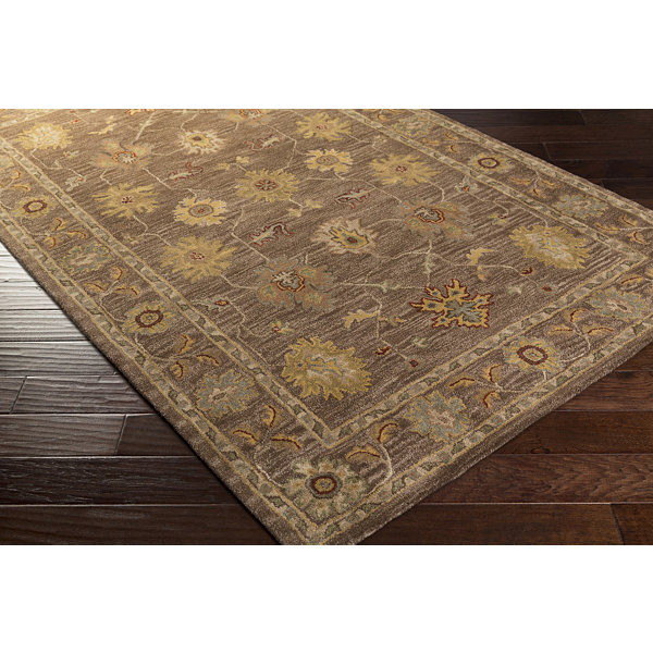 Briana Brown Damask Rug