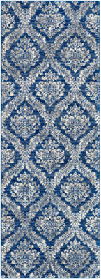 Brixton Blue-Gray Medallion Runner