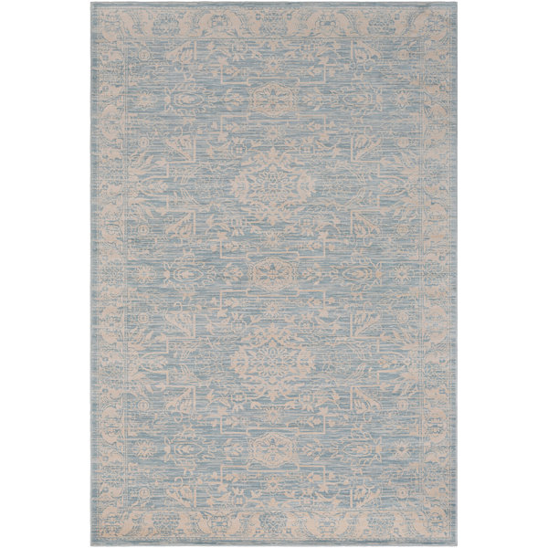 Cacho Blue Damask Rug