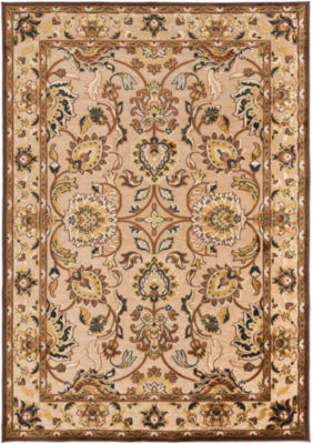 Caracalla Neutral-Green Damask Rug