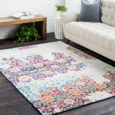 Claver Multi-Colored Damask Area Rug