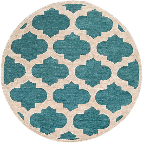 Comtpon Green Round Area Rug