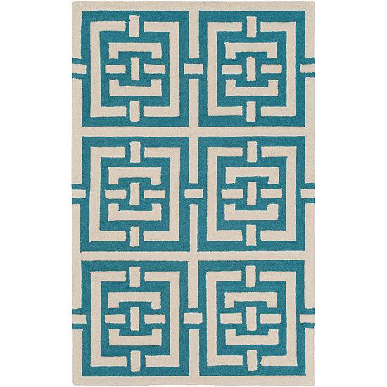 Conor Green Geometric Area Rug