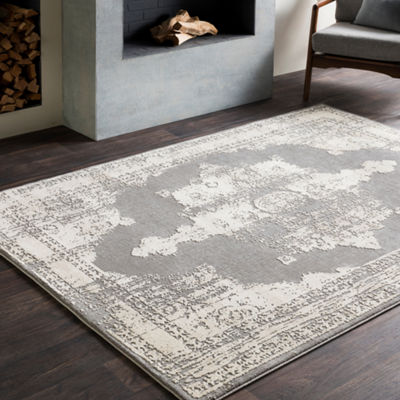 Cordelia Gray Medallion Area Rug
