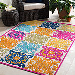 Cortes Multi-Colored Medallion Area Rug