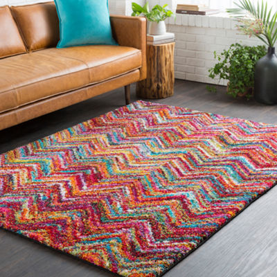Cyril Pink-Gray Area Rug
