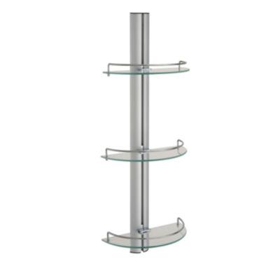 Organize It All The Three-Tier Half Moon Glass Shelf