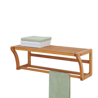 Organize It All Wall Mounting Shelf w. Towel Bars